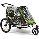Qeridoo 25689 Accessories Housse de pluie pour remorque de vélo poussette Speedkid2