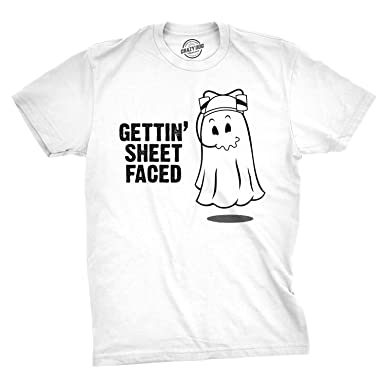 a1f4f9553 Crazy Dog T-Shirts Getting Sheet Faced T Shirt Funny Halloween Drinking Shirt  Ghost Tee