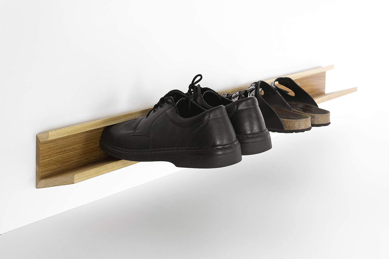 Laufender Meter - Design Schuhregal, aus Holz, für Wand- oder Halter-Montage, modernes Flurmöbel modernes Flurmöbel