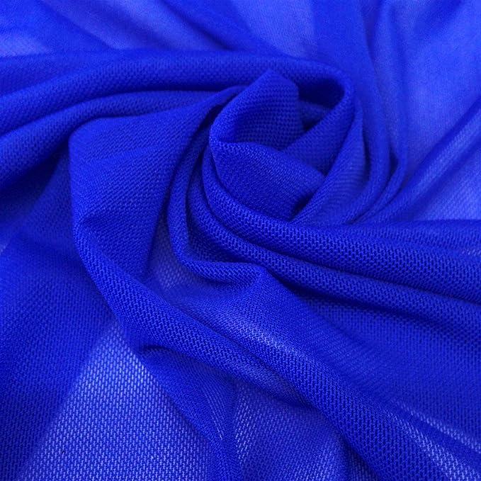 Navy Royal Nylon Power Mesh Fabric by the Yard Style 454