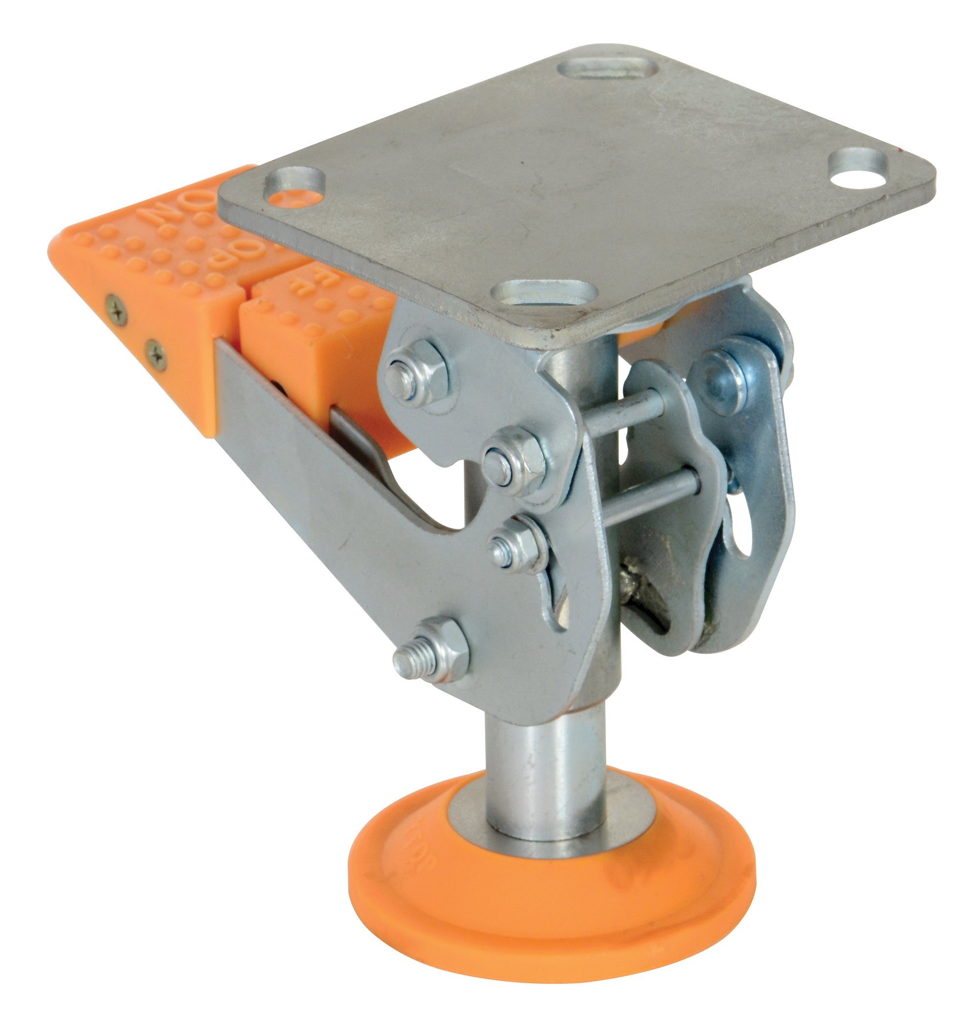 Vestil FL-LKH-6 Floor Lock, Steel/Poly, 6-7/16'' to 7-5/8''