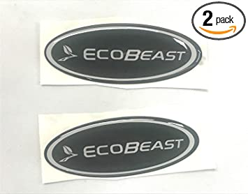 Matte Black ECOBEAST Badge Emblems 3D Sticker Nameplate Door Fender Tailgate Stickers Replacement for 2011 2012 2013 2014 2015 2016 2017 2018 2019 F-150