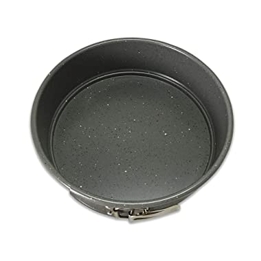 casaWare 9-inch Springform Pan Ceramic Coated NonStick (Silver Granite)