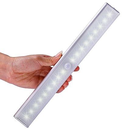 PIR detector de movimiento, Bar con batería inalámbrico de 10 LED Luz de noche con