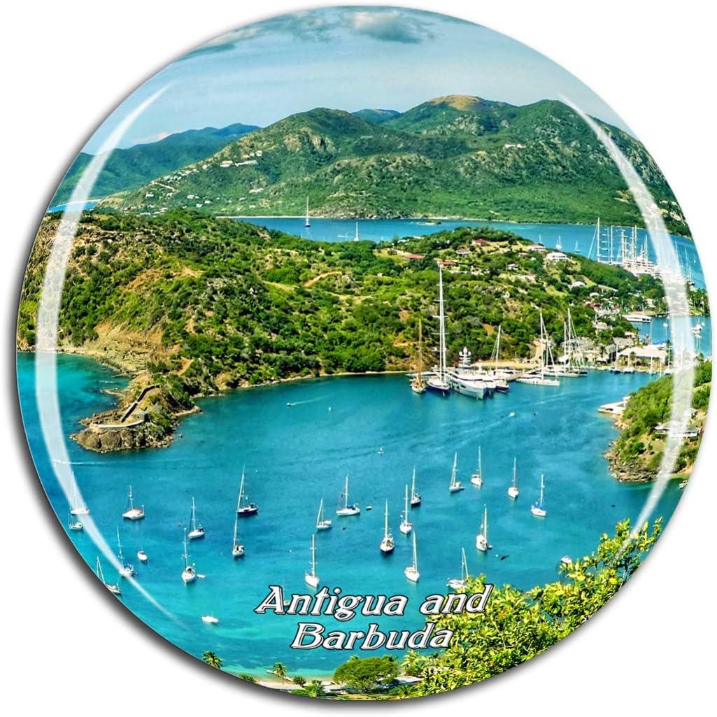 Weekino Antigua and barbuda Fridge Magnet 3D Crystal Glass Tourist City Travel Souvenir Collection Gift Strong Refrigerator Sticker