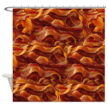 CafePress   BACON!!!! Shower Curtain   Decorative Fabric Shower Curtain  (69u0026quot