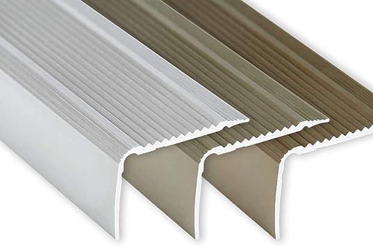 plateado 100 cm montaje adhesivo Toolerando Perfil para canto de escalera forma en L 30 x 20 mm