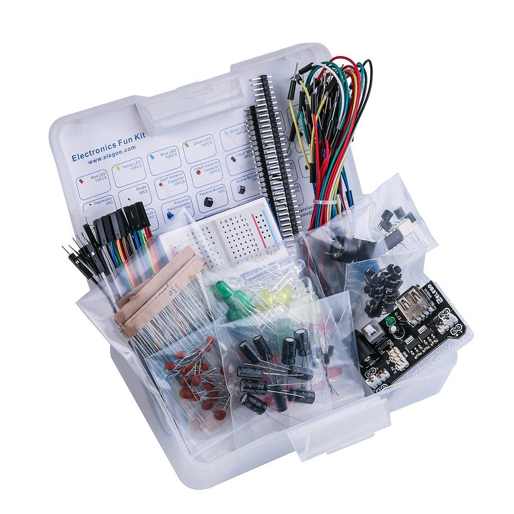 Raspberry Pi ELEGOO Electronics Component Basic Starter Kit w//Precision Potentiometer Buzzer Capacitor Compatible with Arduino UNO MEGA2560