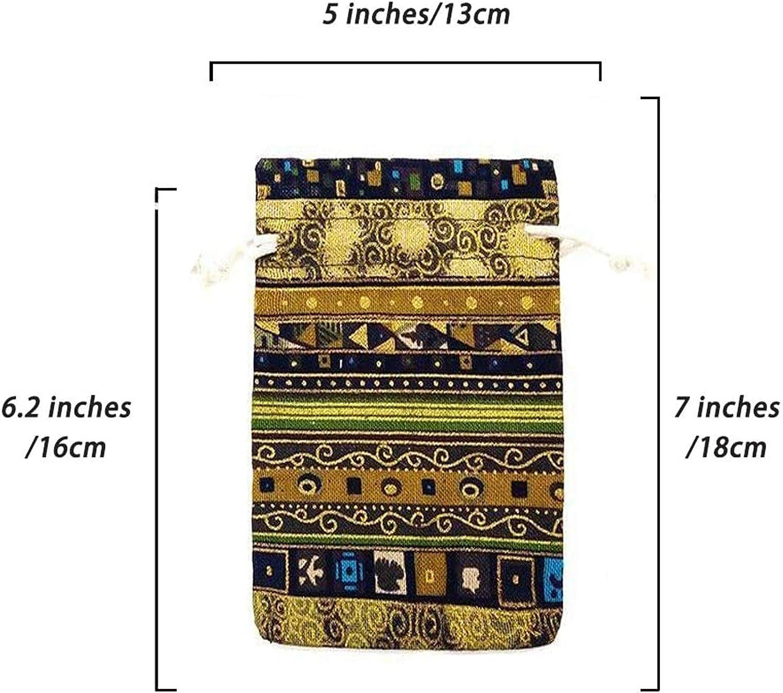 Comius Sharp 12 Pack 5x7 pouces Style Ethnique Cordon Cadeau Sac Coton /Épicerie R/éutilisable Sacs Pochettes /à Bijoux Bijoux Sacs /Écologiques Biod/égradables
