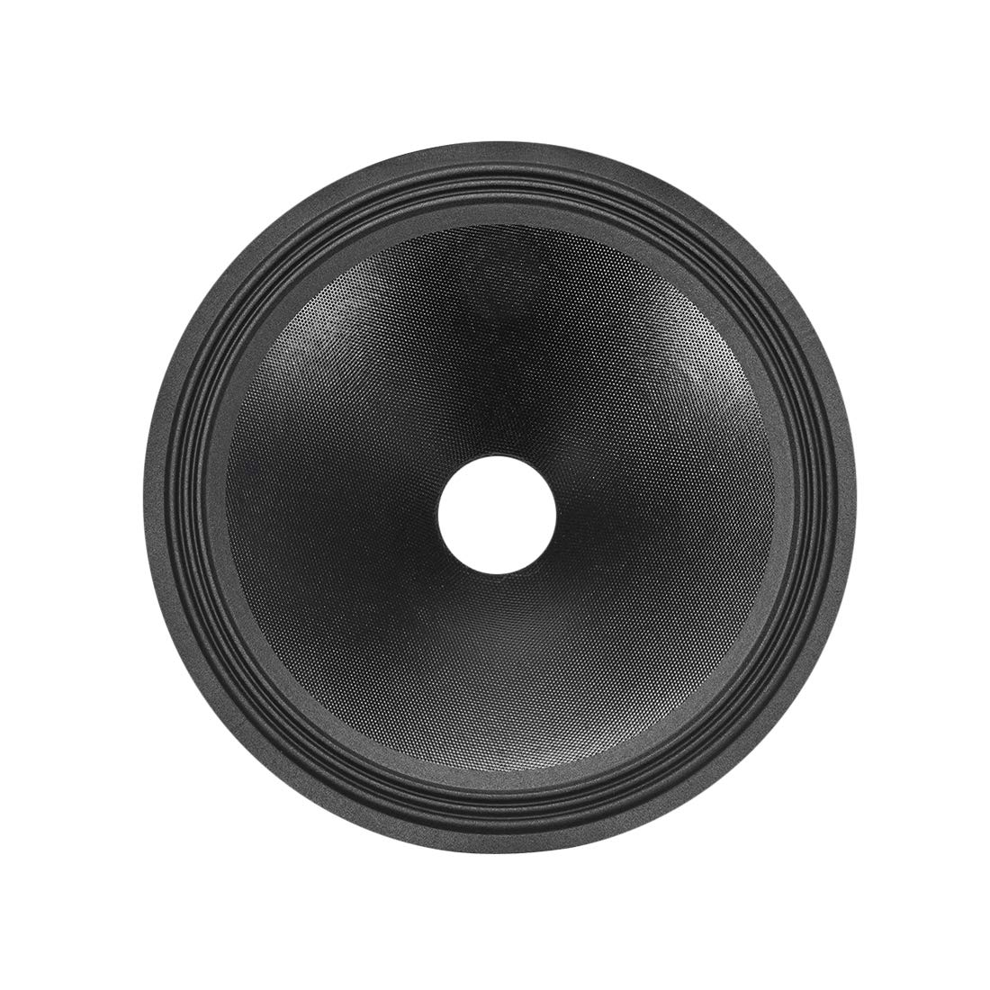 uxcell 12'' Paper Speaker Cone Subwoofer Drum Paper 2'' Coil Diameter with 3 Cloth Surround Glossy Black