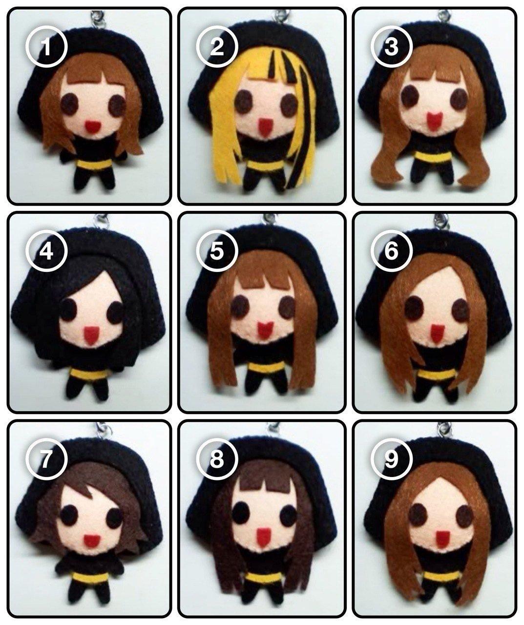 [SET of 9] SNSD - Run Devil Run KPOP Handmade Doll Keychains