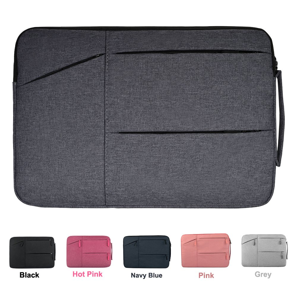 15.6 Inch Premium Water Resistant Shockproof Laptop Sleeve Case with Handle for Acer Aspire E15 E5-575G, ASUS, Toshiba, Dell Inspiron, Lenovo, MSI, HP Notebook Protective Carrying Case, Space Grey