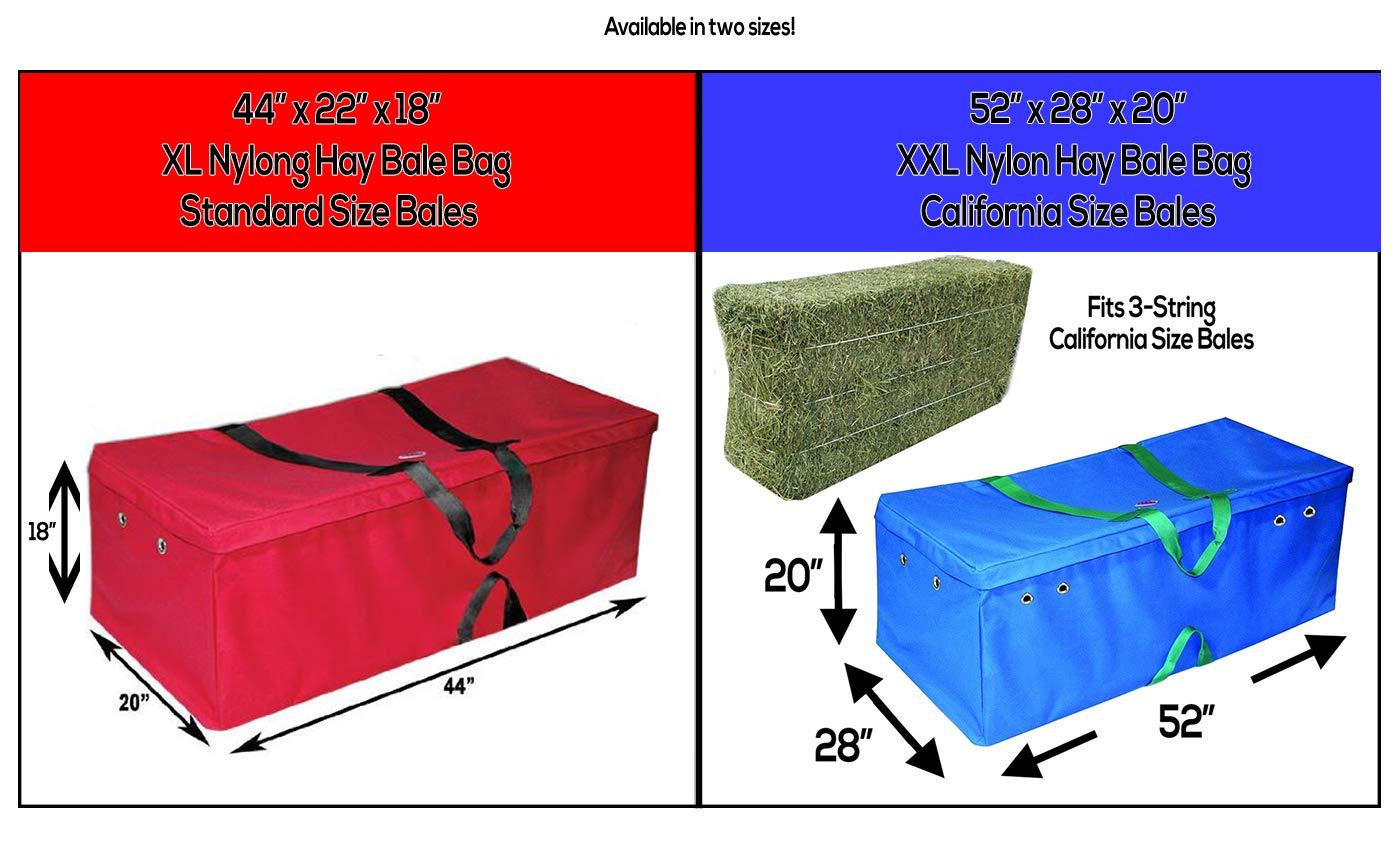 Derby Originals Nylon Hay Bale Bag-Covers, Black