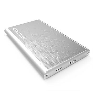 Ennotek Caja de aluminio para disco duro USB 3.0 con UASP para SATA SSD / HDD