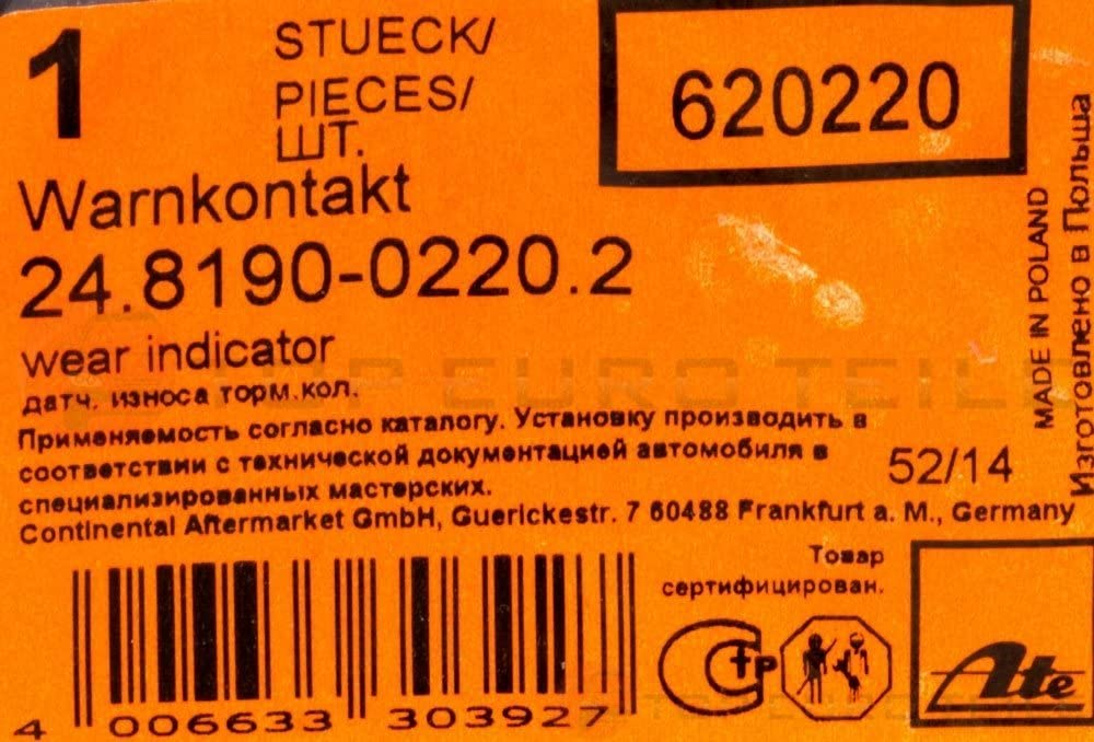 Ate 24819002202 Warnkontakt Auto
