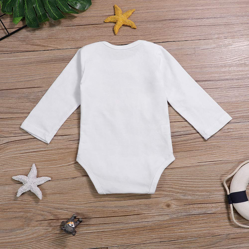 Newborn Infant Baby Boy Bodysuit My 1st Halloween Letter Print Long Sleeve Romper Halloween Baby Clothes
