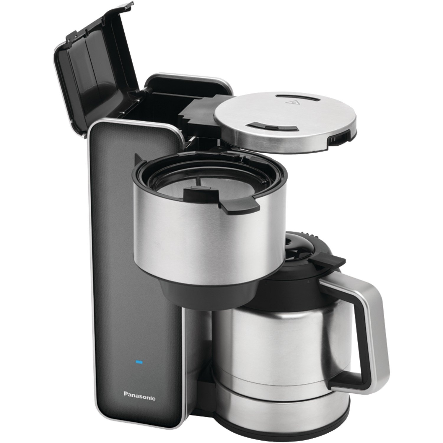 Panasonic ''Breakfast Collection'' NC-ZF1V Coffee Maker (Grey), Stainless Steel