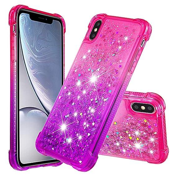 hot sale online 9fac8 2991c Amazon.com: ZSTVIVA iPhone Xs Case, iPhone X Case, Gradient Series ...