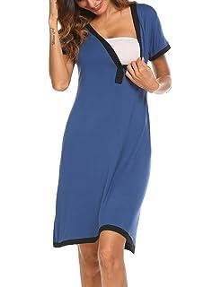 4156dbae0fa Ekouaer Women s Maternity Dress Short Sleeve Nursing Nightgown for  Breastfeeding Sleepwear S-XXL