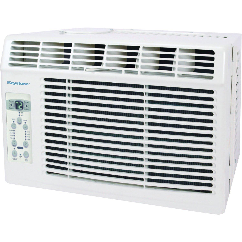 Keystone 5,000 BTU 115V Window-Mounted Air Conditioner with ''Follow Me'' LCD Remote Control