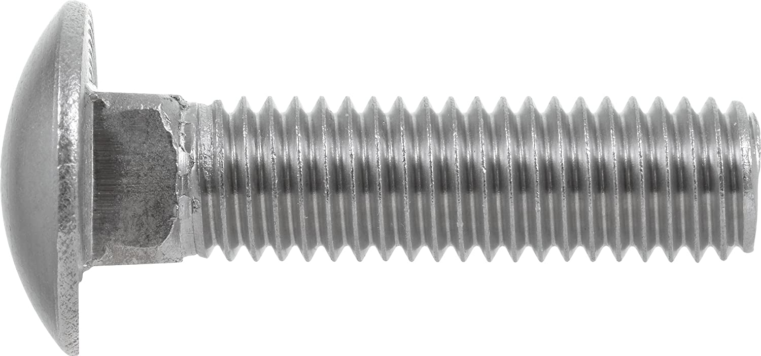 25-Pack 1//4 x 2-1//2-Inch Hillman 832522 Stainless Steel Carriage Bolt