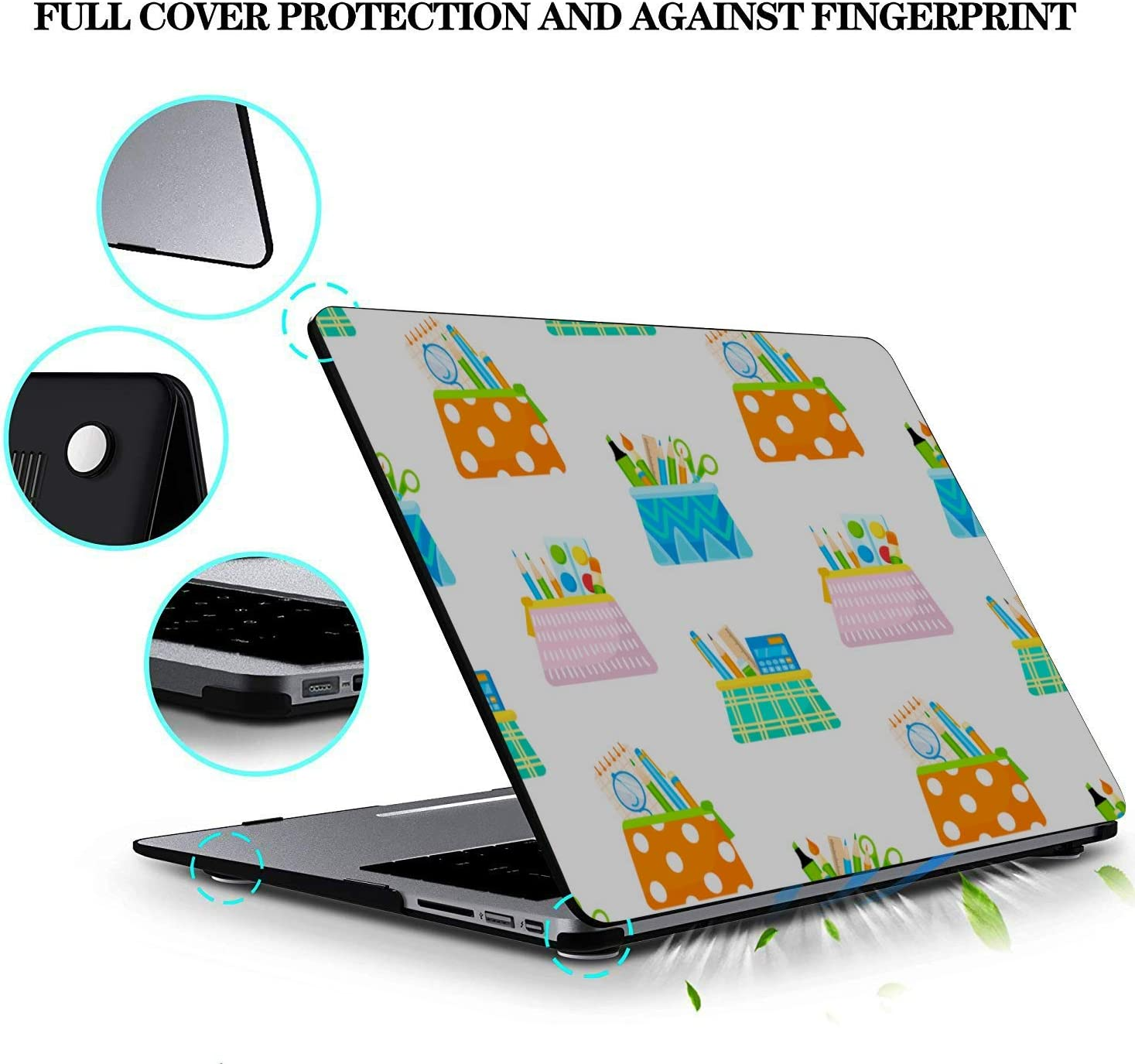 MacBook 2018 Case School Supplies Pencil Sharpener Plastic Hard Shell Compatible Mac Air 11 Pro 13 15 MacBook Protector Protection for MacBook 2016-2019 Version