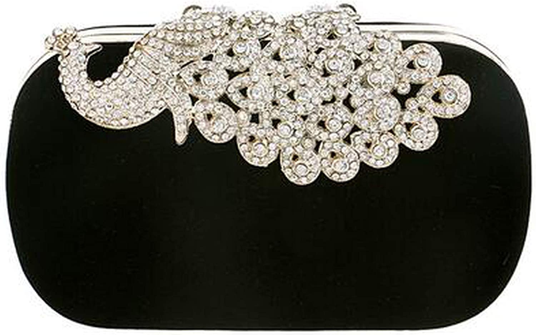 pursuit-of-self Clutch evening bags Crown rhinestones evening bags purse shoulder bag for wedding