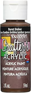 product image for DecoArt Crafter's Acrylic Paint, 2-Ounce, Burnt Umber
