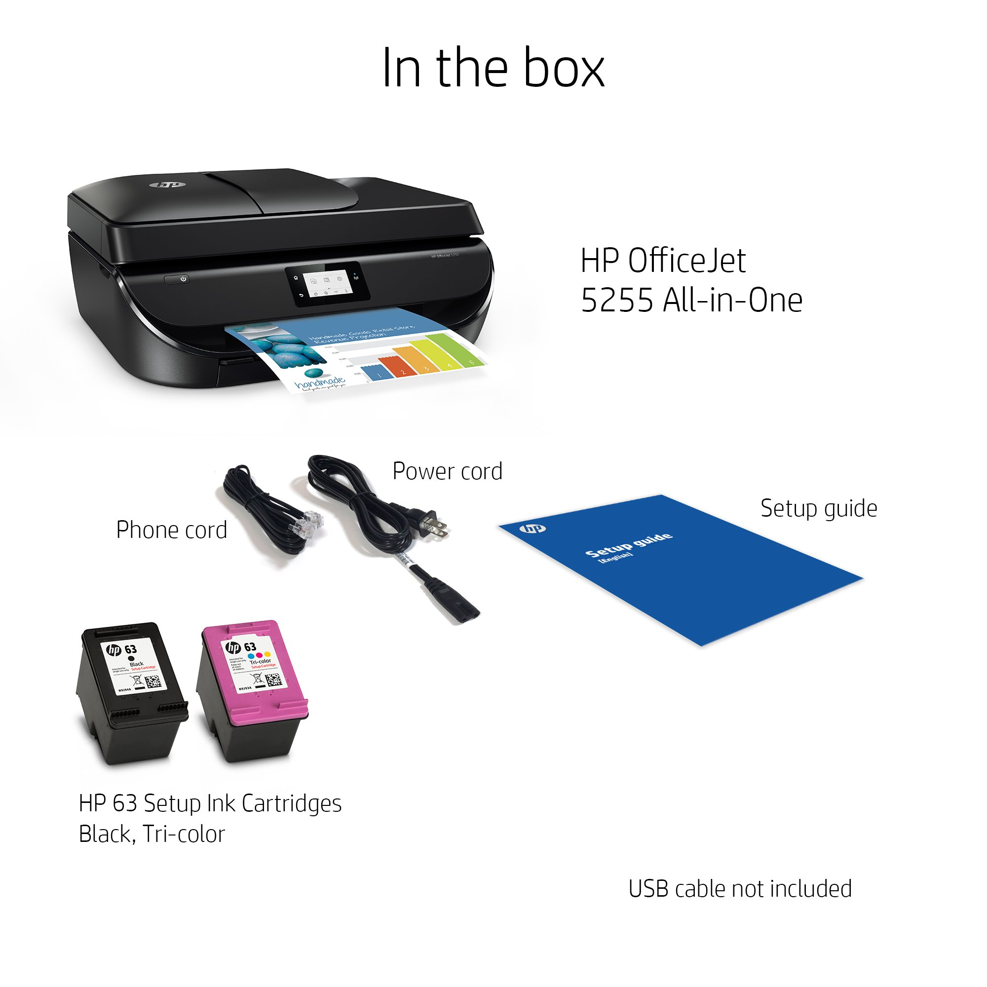 OfficeJet 5255 Wireless All-in-One Printer - Unboxed