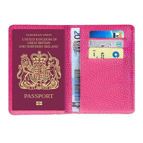 857c61791 MPTECK @ Rosado Funda Pasaporte porta pasaporte de cuero PVC Cartera  pasaporte piel Caja Sostenedor Cubierta