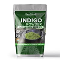 Organic Essentials Indigo Powder For Hair & Beard Dye - Black (250 Grams)