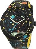 Puma Time Unisex-Armbanduhr PU-FORM XL BLACK SPLASH Analog Quarz Silikon PU103211021