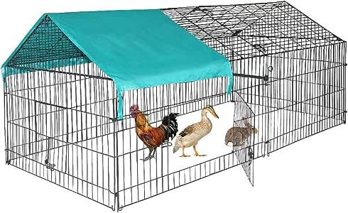 BestPet Chicken Coop Chicken Cage Pens Crate Rabbit Cage Enclosure Pet Playpen Exercise Pen