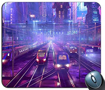 Amazon Com Trains Railway Station Background Gaming Mouse Pad Mat