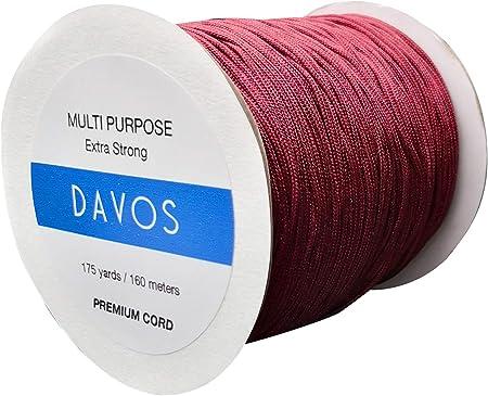 Cordón de nylon extra flexible y fuerte de 1,5mm en un carrete súper largo de 160 metros. Disponible