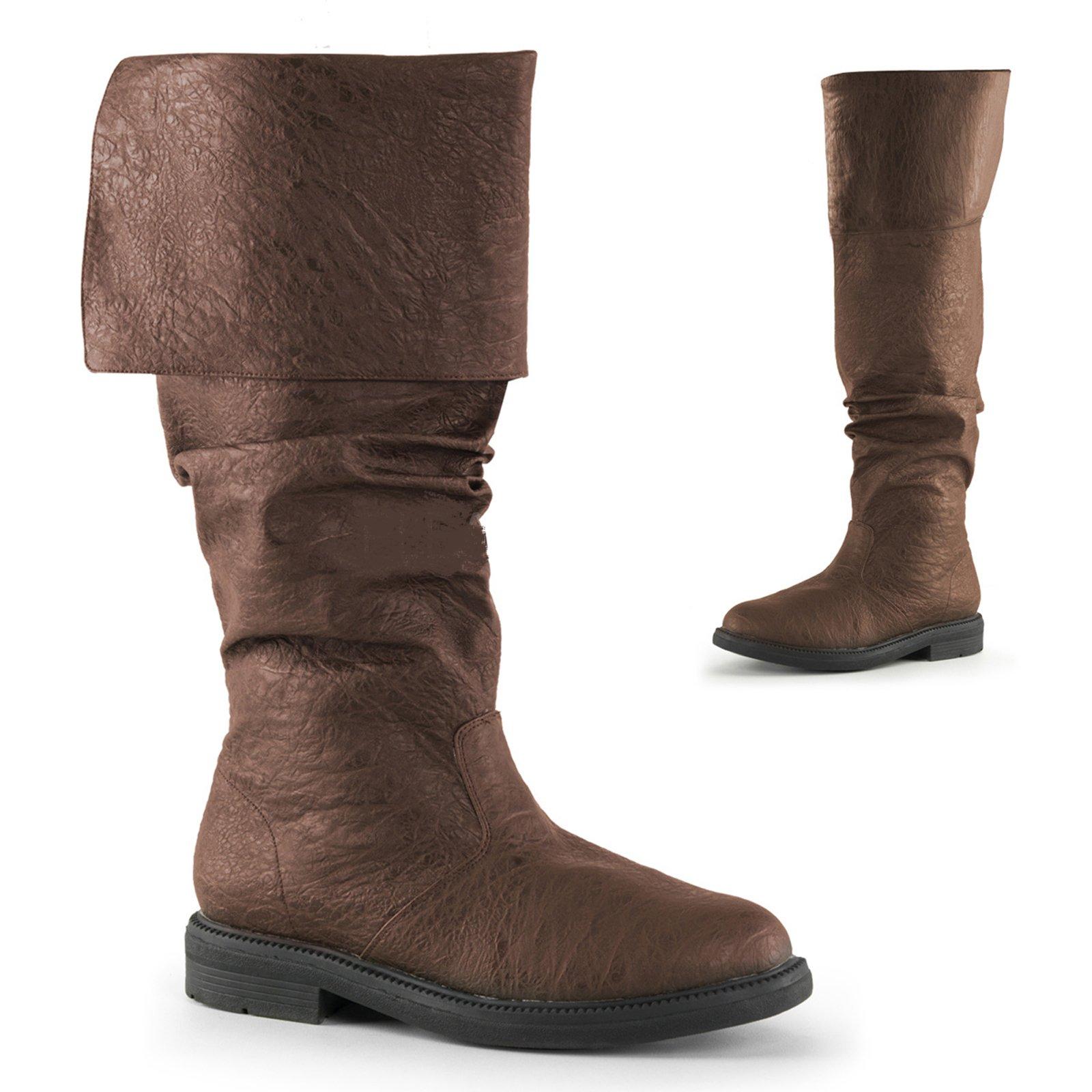 Endless Road RH100 Medium 10-11 Brown Robin Hood Knee High Boots with Cuffs