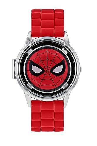 Spiderman Reloj Analógico para Niños de Cuarzo con Correa en Caucho SPD9024: Amazon.es: Relojes