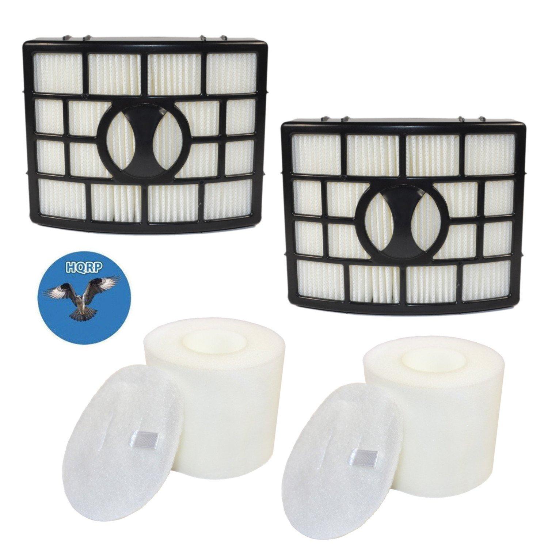 HQRP 2-Pack Filter Kit for Shark Rotator NV750 Series NV750W NV751 NV752 NV750REF Powered Lift-Away Upright Vacuum Cleaners, HEPA + Foam&Felt Filters Coaster