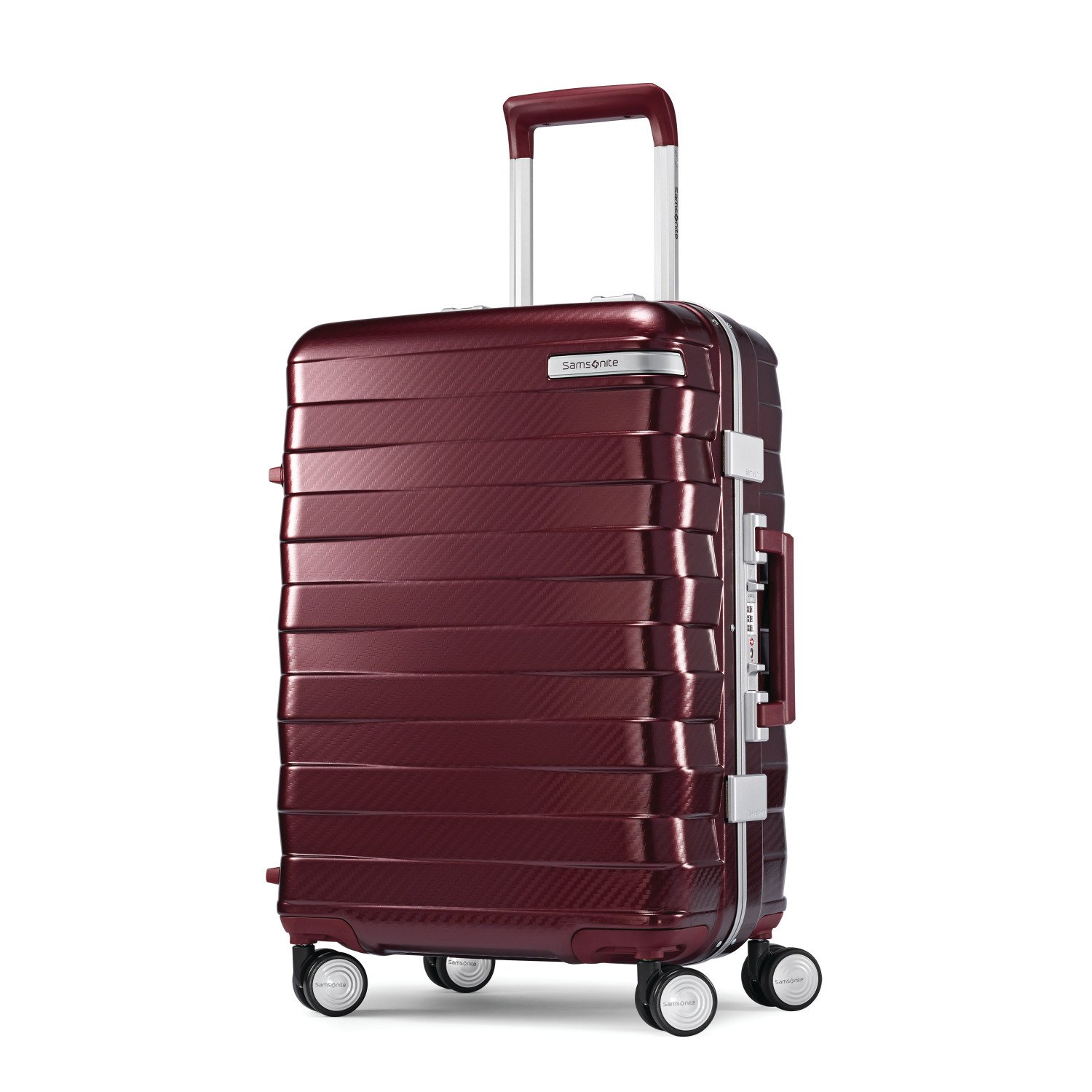Samsonite Framelock Hardside Carry On Luggage with Spinner Wheels, 20 Inch, Cordovan Samsonite Corporation 111170-2156