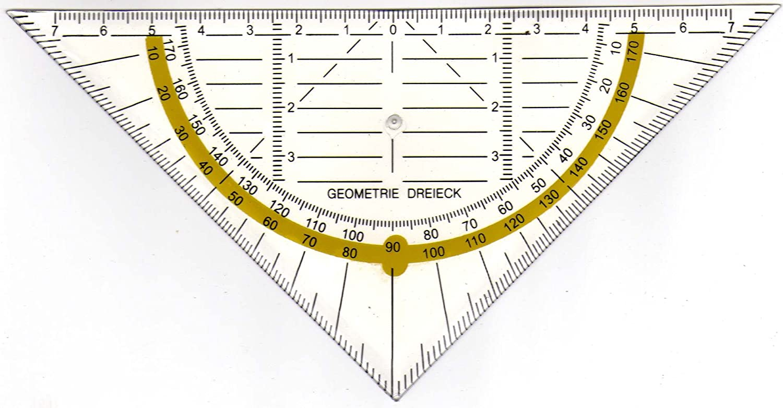 Geodreieck Geometrie Dreieck Dreiecklinieal unzerbrechlich Flexibel 16 cm