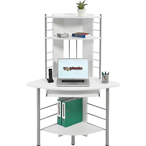 Home Office White Corner Computer Desk, Felix: Amazon.co