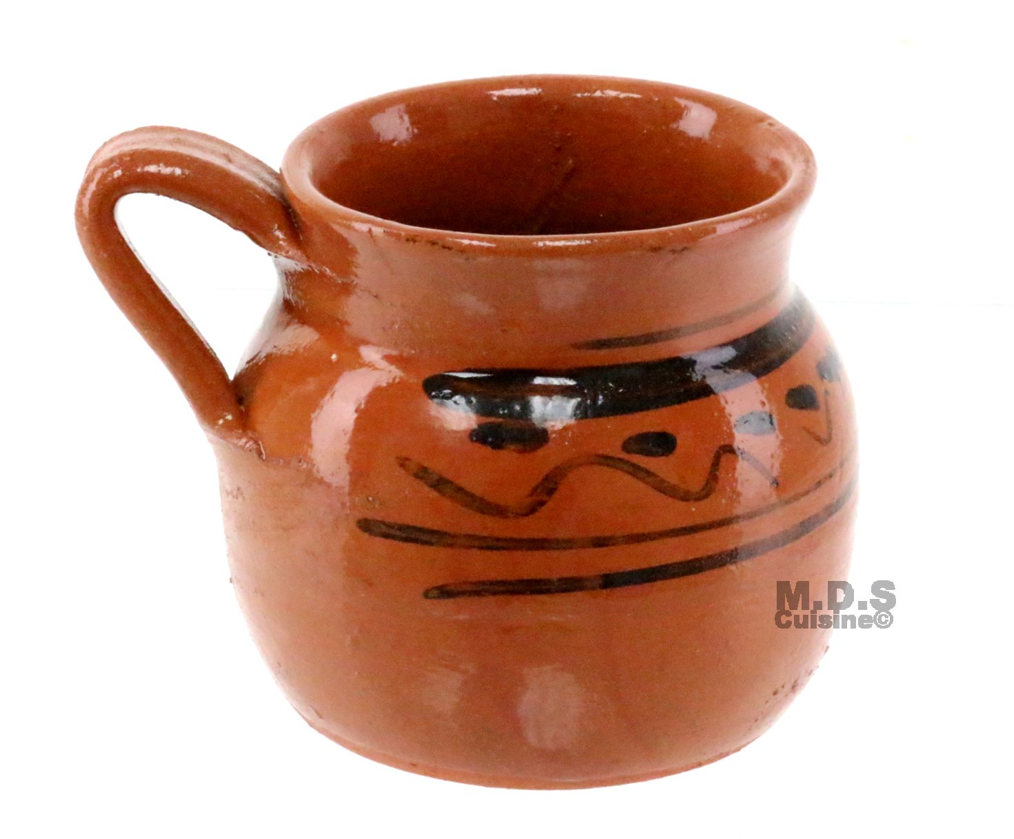 Taza De Barro 10 Oz. Jarro Mug Lead Free Traditional Decorative Mexican Clay Artisan Artezenia Hot Chocolate Champurrado Tepache Pulque Atole Cafe Coffee