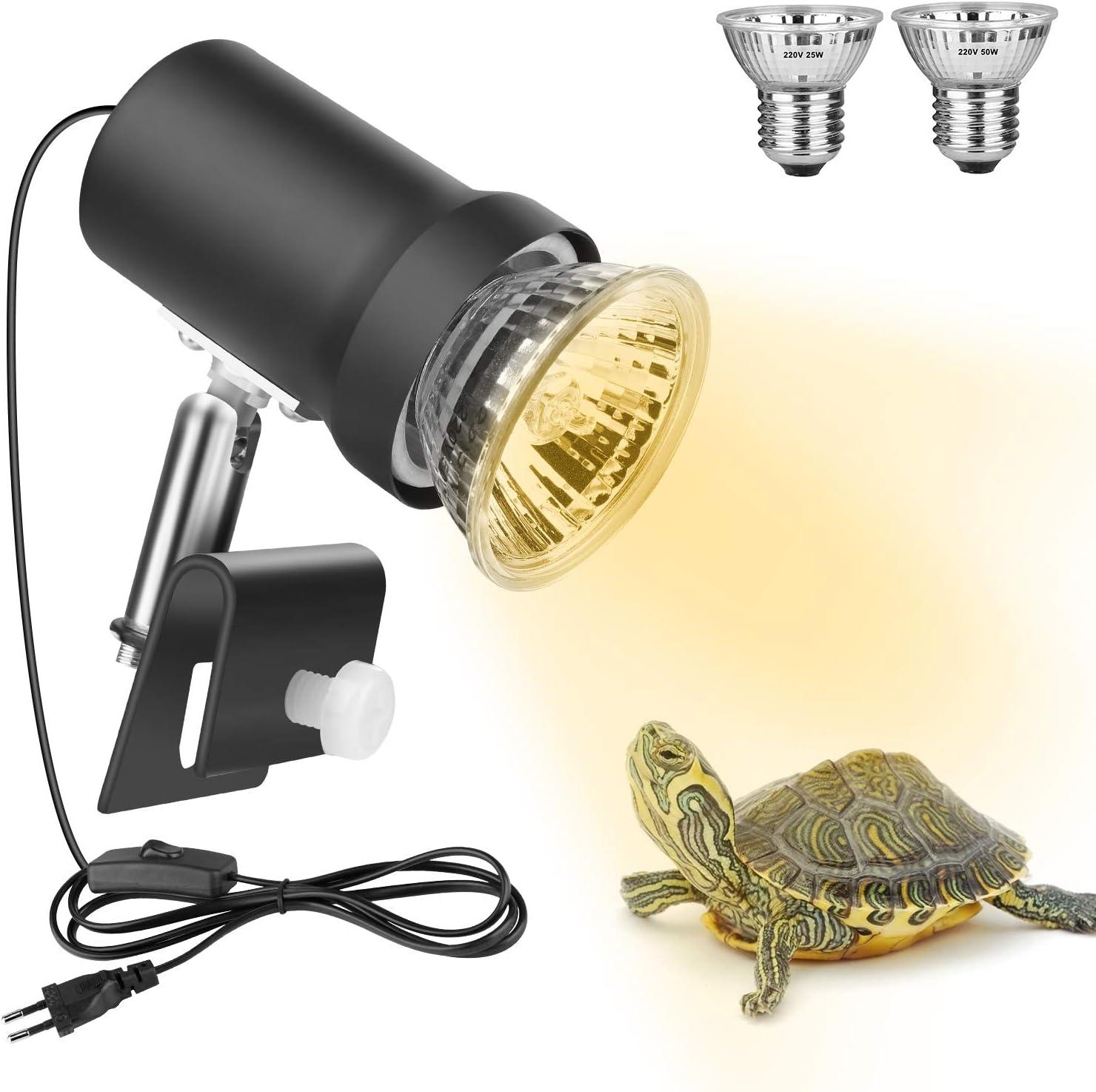 Zacro Lámpara para Tortuga, 360° Rotación UVA UVB