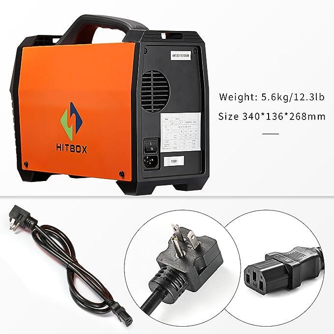 Soldador de MIG 120 amperios 220V DC Mini soldadora de Mig portátil Inverter Naranja con Mig Torch Earth Clamp: Amazon.es: Bricolaje y herramientas