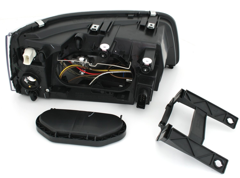 Halter AD Tuning GmbH /& Co Stellmotoren KG DEPO Doppellinsen-Scheinwerfer Set Klarglas Chrom inkl