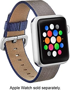 Modal - Woven Nylon Band Watch Strap for Apple Watch 42mm - Navy Blue