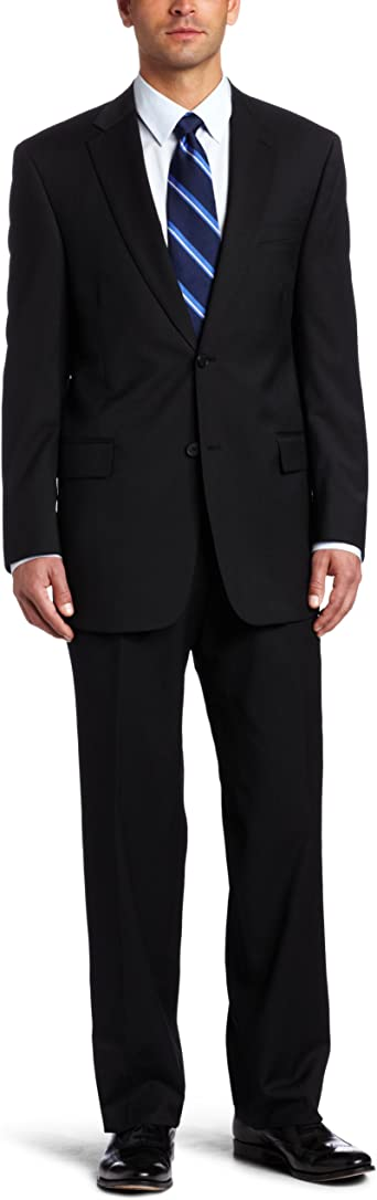 Austin Reed Men S Stripe Suit Separate Coat Black 46 Regular Amazon Co Uk Clothing