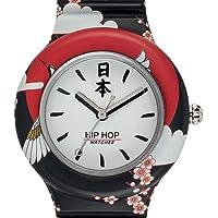 Hip Hop HWU0861 - Orologio da Donna Hip Hop Black - Collezione I Love Japan - Cinturino in Silicone - Cassa 32mm - Impermeabile