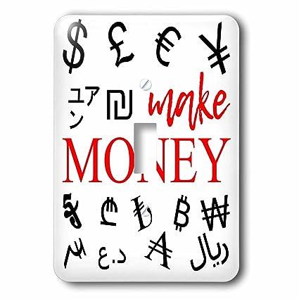 3dRose Alexis Design - Typography Money Symbols