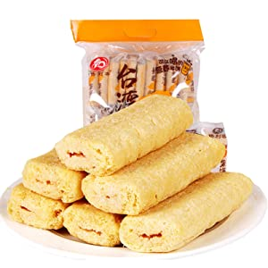 Taiwan Rice Cake Sandwich, Cheese Roll Snack, Crunchy Sweet and Delicious, Individually Packaged, Vegan for Adults and Children, Breakfast, Company and Leisure Time, 350g/40 Small Bag (Cheese)